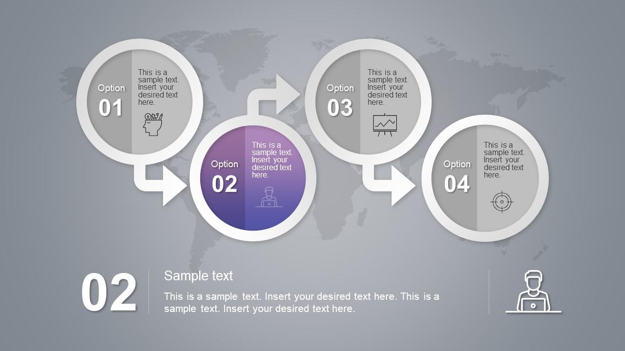 Infographic Diagram Four Step Slide