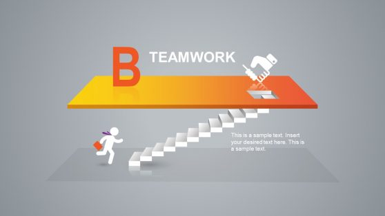 Teamwork PowerPoint Slide Step