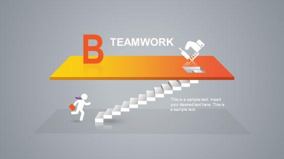 Teamwork PowerPoint Slide Step