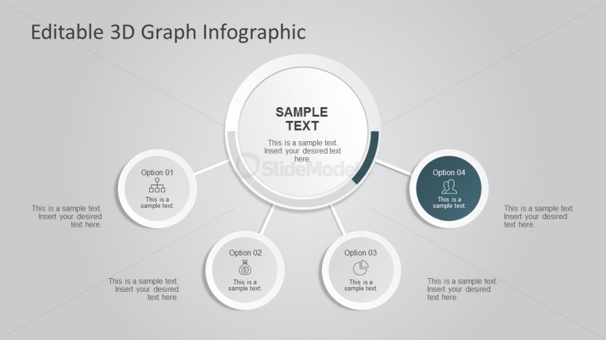3d Graph Infographic for PowerPoint Presentation