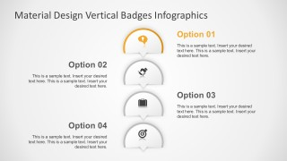 4 Steps Infographics Badges with PowerPoint Icons