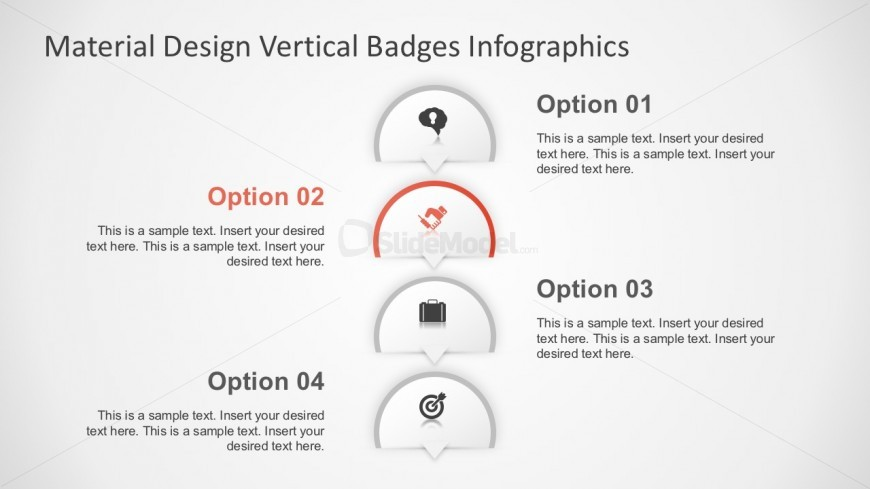 4 Options Banners Infographic Slide Design