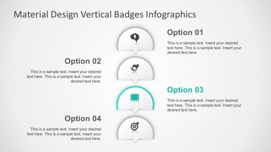 4 Steps Options Badges Vectors For PowerPoint