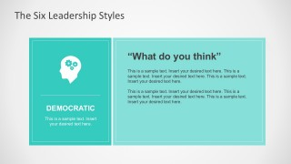 Democratic Leadership Style for PowerPoint