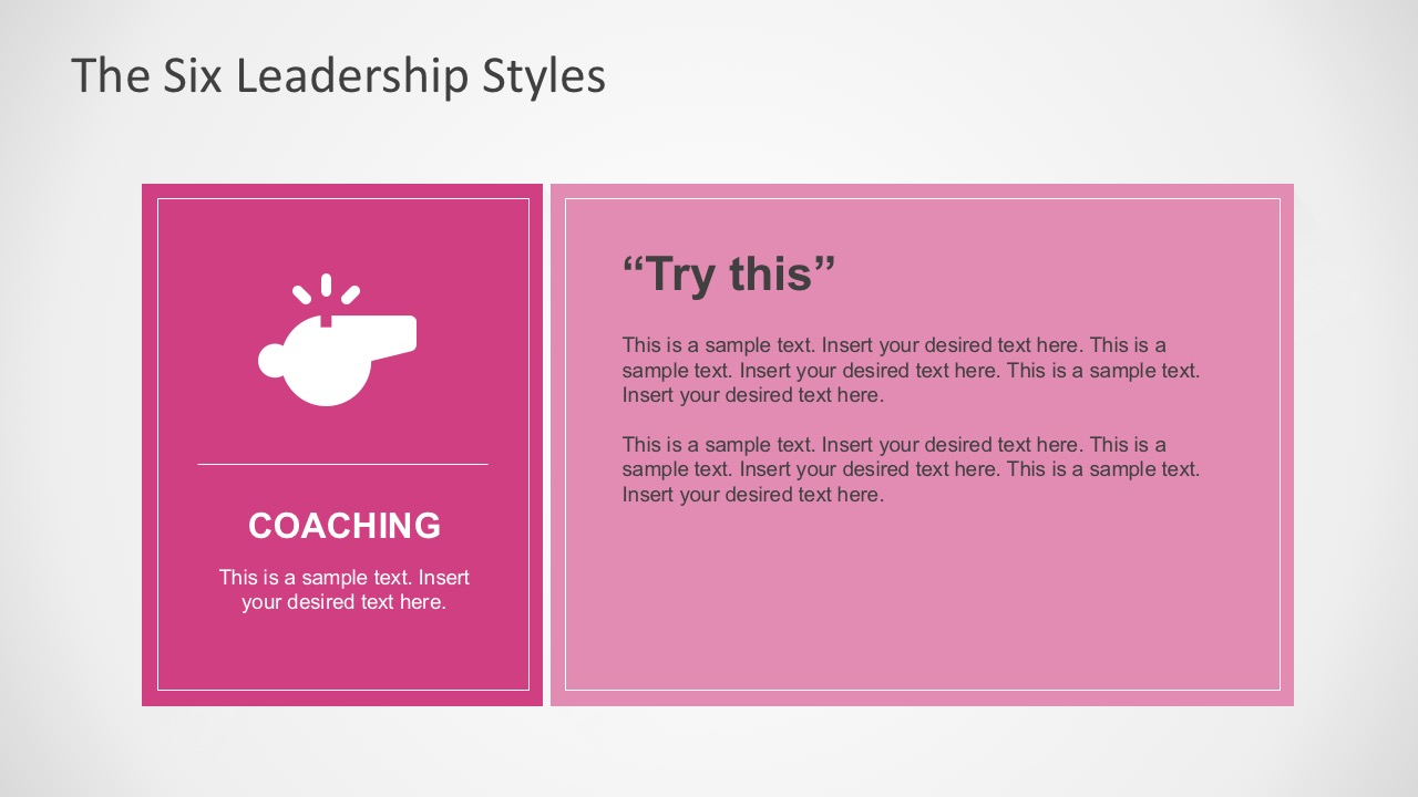 Coaching Leadership Style for PowerPoint