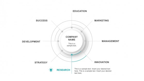 Thin Line Flat Circular Infographic Presentation Slides