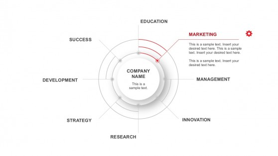Business Radial Infographics Diagrams