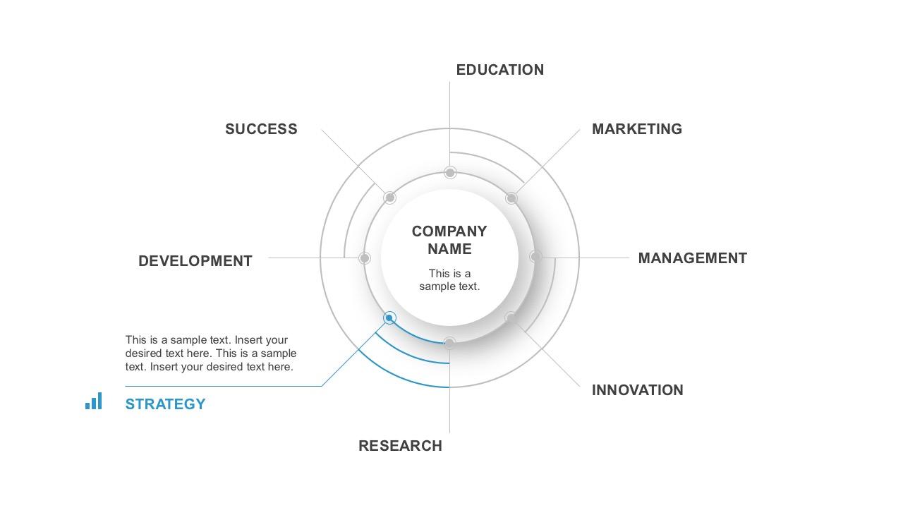 8 Segment Circle Vector PowerPoint Infographics