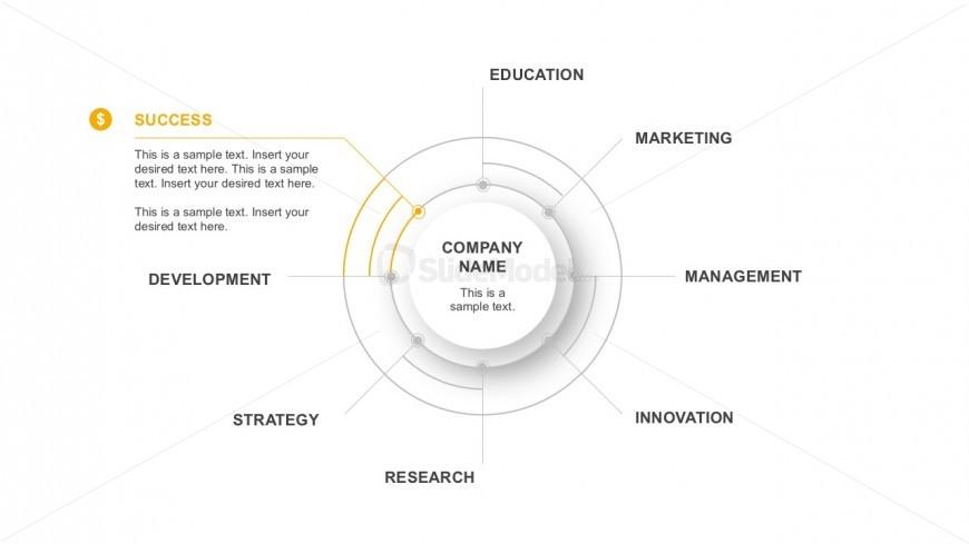 8 Steps Process Flow Diagram For Business