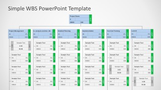 Professional PowerPoint WBS Diagram