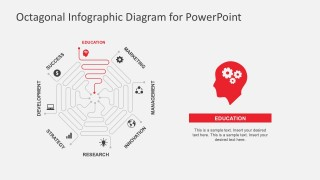 8 Steps Thin Lines PowerPoint Business Infographics