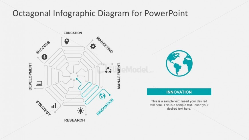 8 Steps Business Flow Chart With PowerPoint Icons