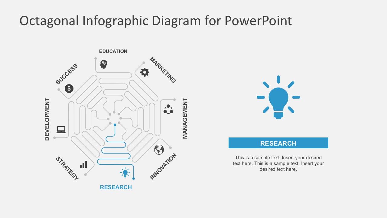 Editable Octagon PowerPoint Template Slides