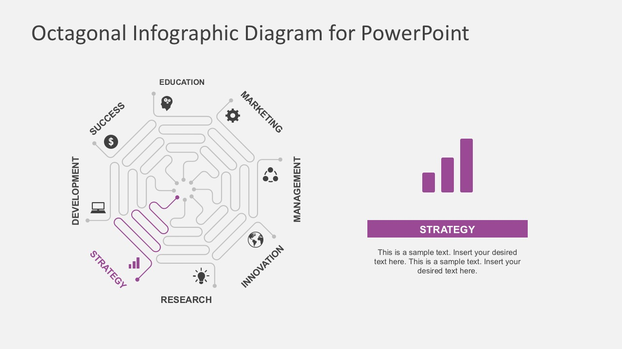 Octagonal infographic diagram for powerpoint business process flow diagrams for powerpoint ccuart Image collections