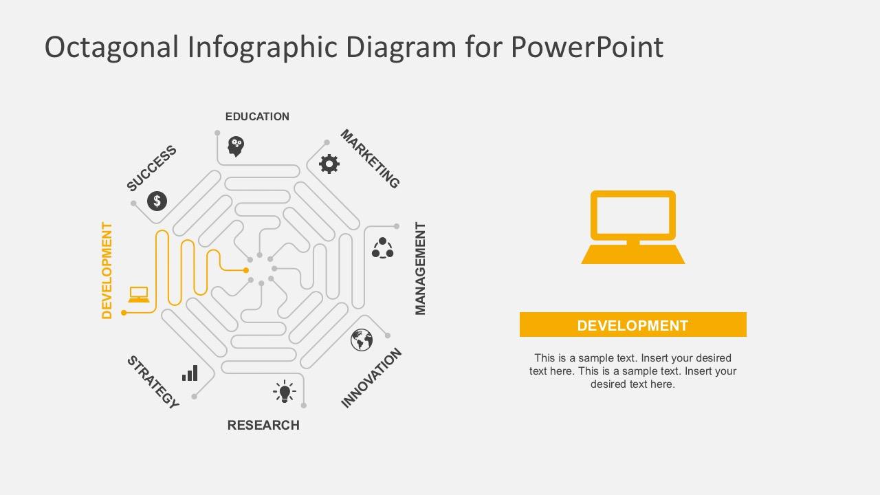 Flat Design Process Flow Diagrams Business PowerPoint