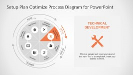 8 Stages Circular PowerPoint Diagram Templates