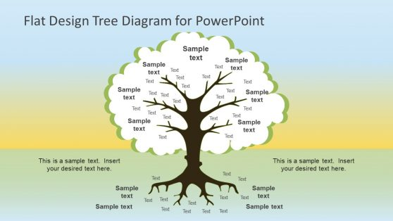 Flat Design Tree Diagram PowerPoint Template