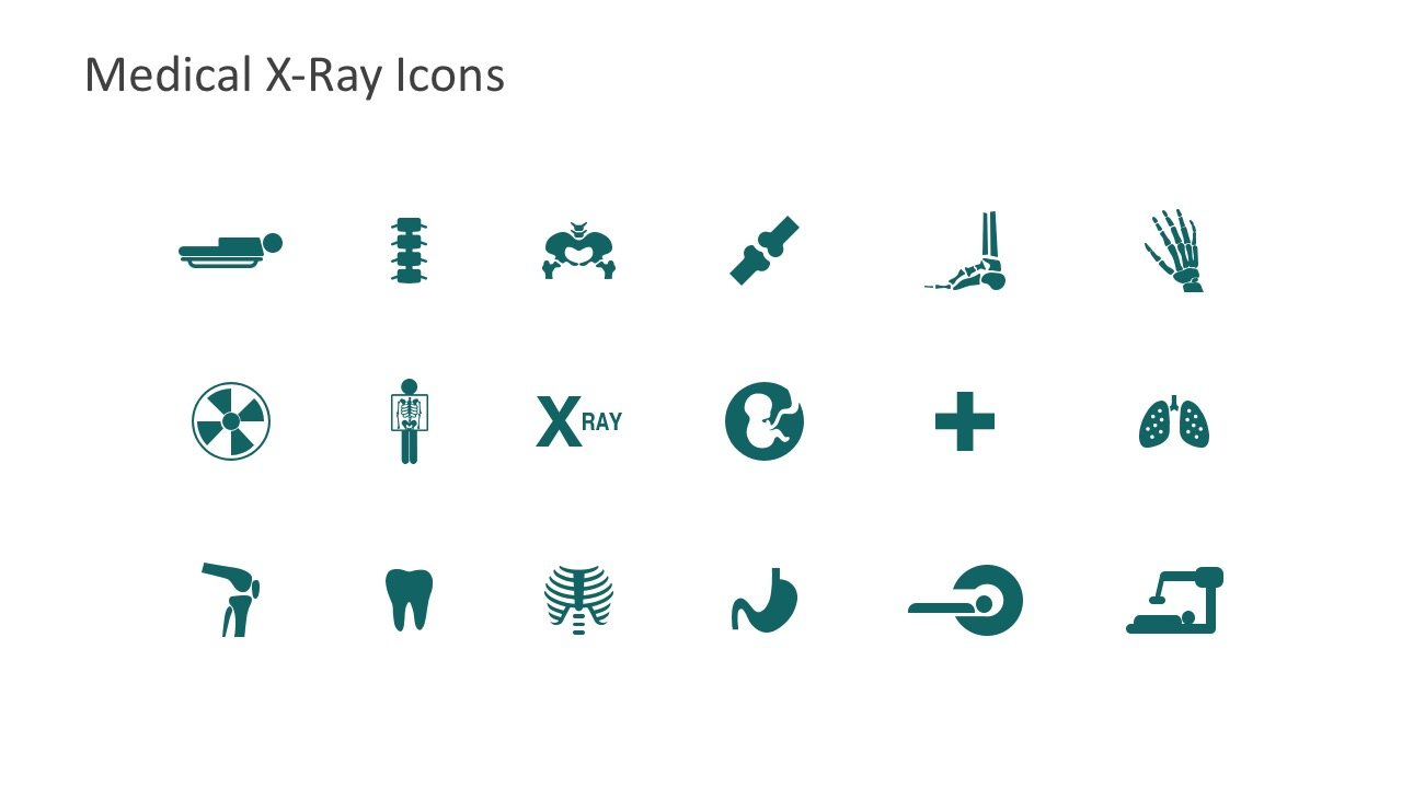 Medical x ray powerpoint template slidemodel powerpoint templates editable x ray icons shapes and clip arts editable icons for medical radiology toneelgroepblik Gallery