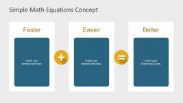 3 Columns Math Equation Template Slides