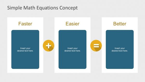 3 Columns Math Equation Template Slides
