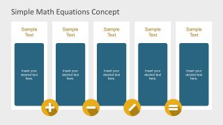 5 Columns Math Equation Editable Slides
