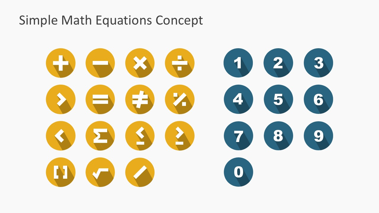 Editable Mathematical Signs Icons