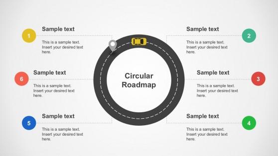 Business Target Car Roadmap Infographics Slides