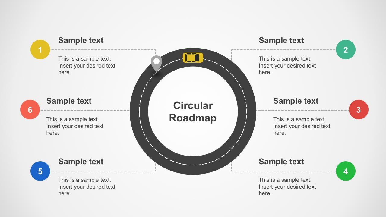 Circular Roadmap for PowerPoint