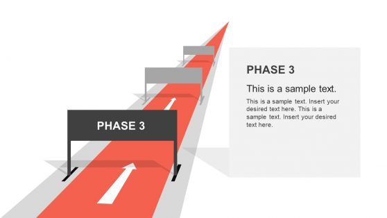 Track and Hurdle Shape PowerPoint Slide