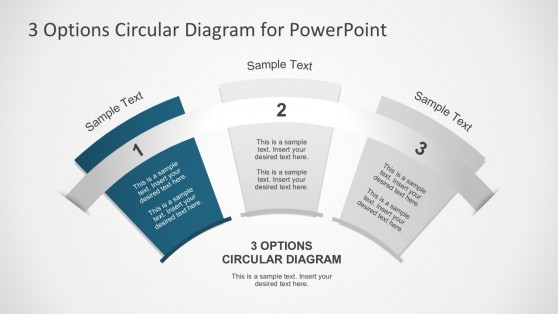 Circular Fan Diagram PowerPoint Slides
