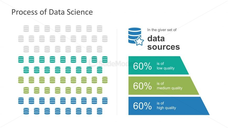PPT Infographic using Database Icons