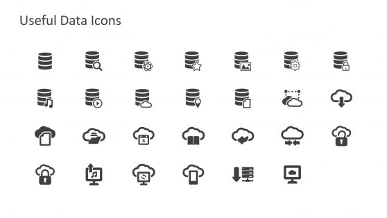 Dark Color Data Science PowerPoint Icons