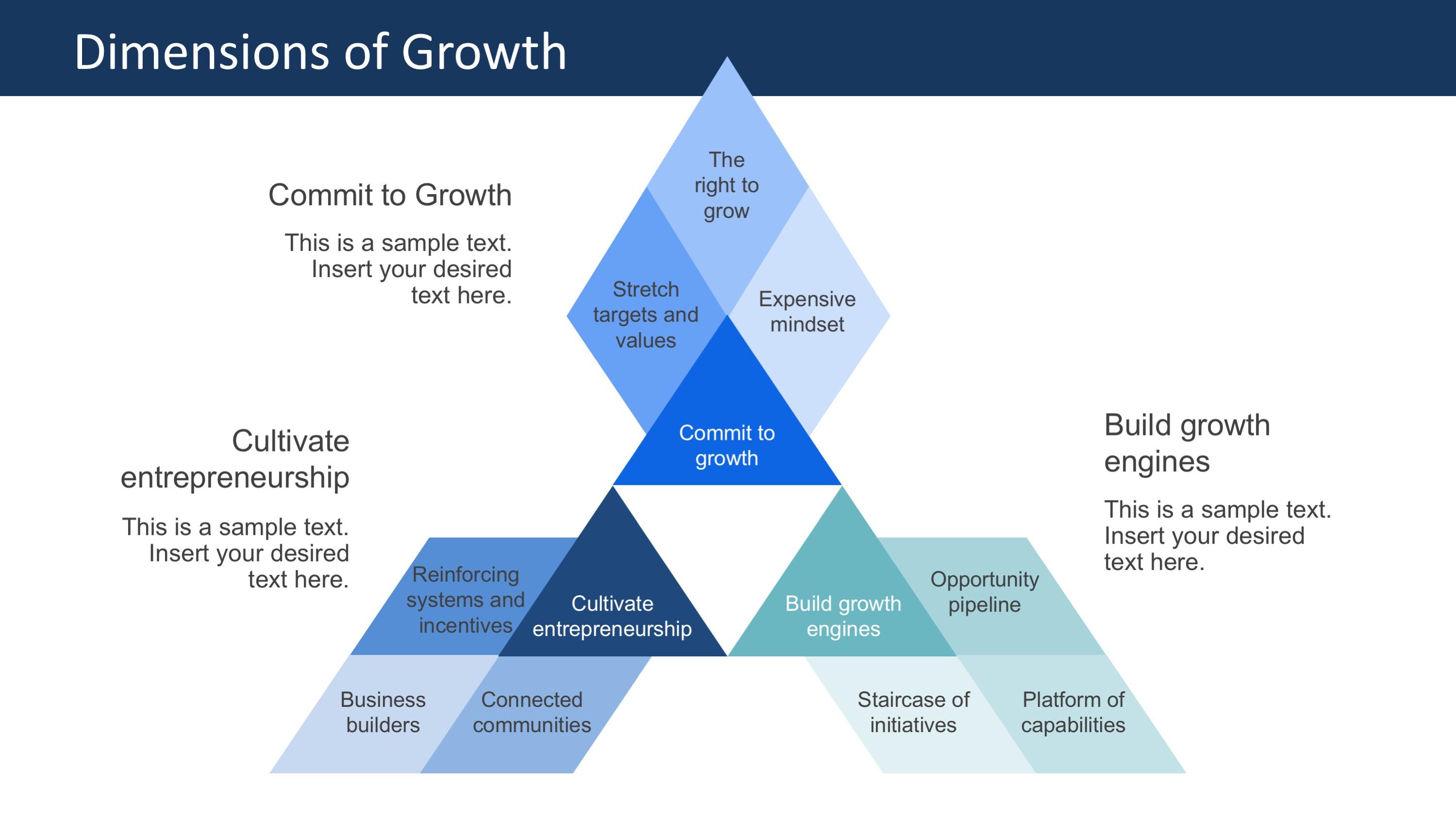 PPT Diagram Star for 7 Degrees of Strategic Freedom