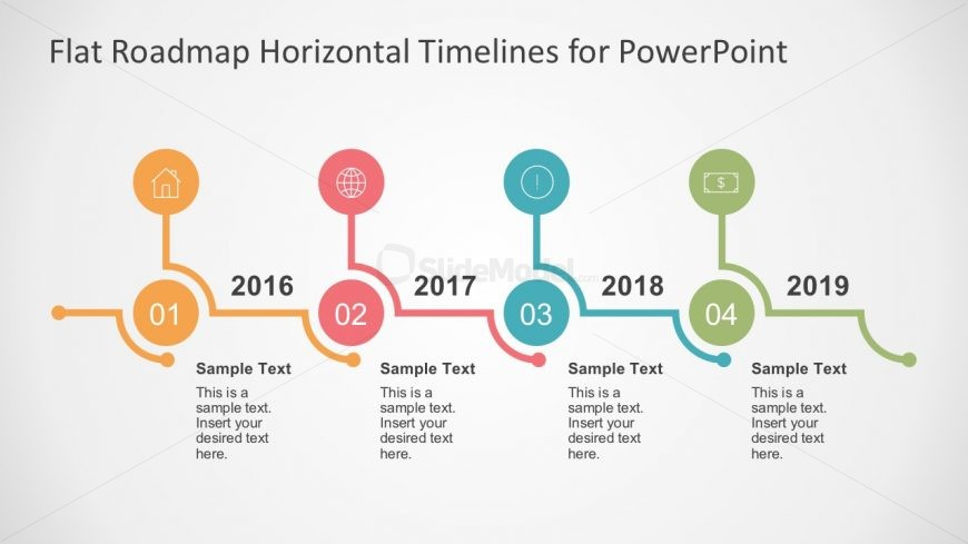 editable timeline powerpoint template slidemodel