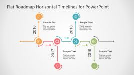 Easy To Edit 4-Year Timeline PowerPoint
