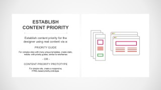 Content Priority Prototype Design Process
