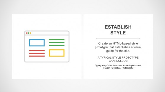 Website Content and Graphic Layout Template Slide