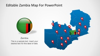 Editable Zambia Map For PowerPoint