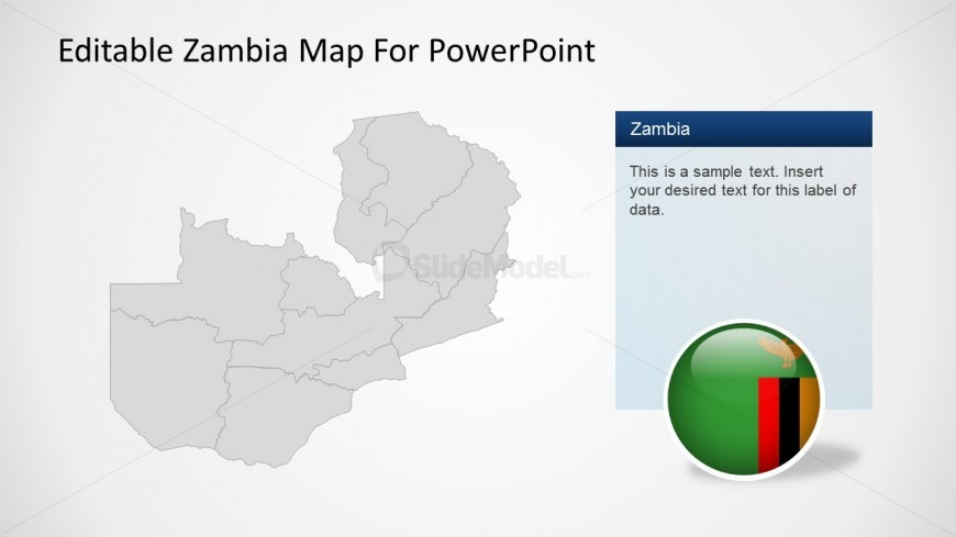 PPT Template Map of Zambia
