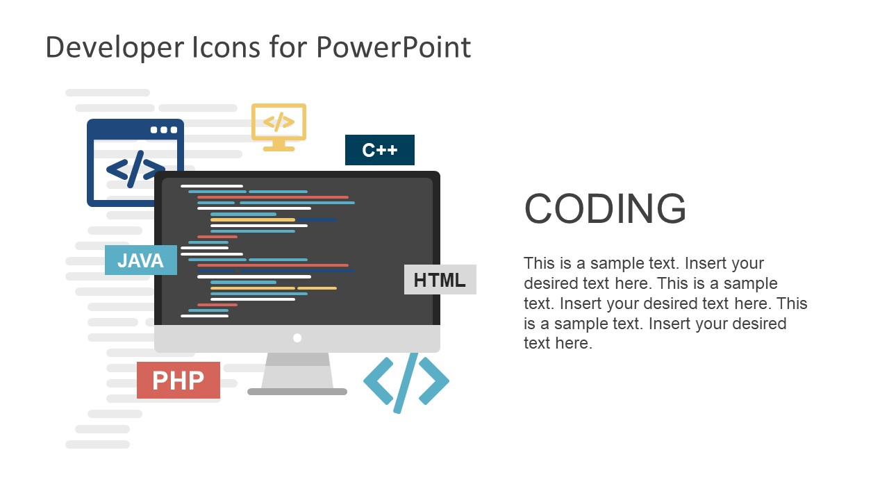 Developers icons powerpoint template slidemodel coding and programming shapes template toneelgroepblik Gallery