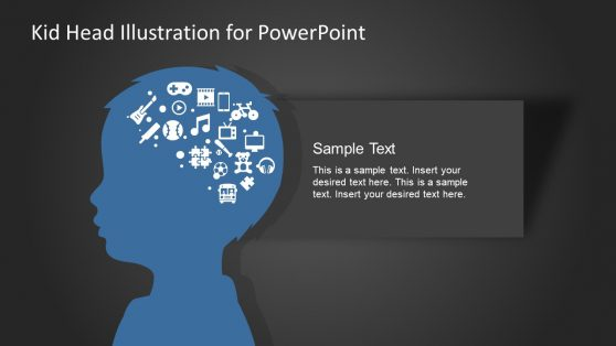 PowerPoint Illustration of Kid Head