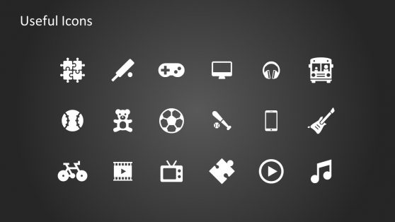 Useful Icons of Toys in PowerPoint