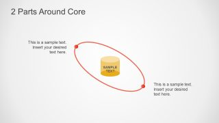 Parts Around Core Diagram for PowerPoint