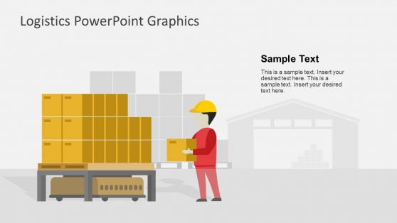 Illustration of Logistics Worker PowerPoint