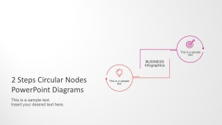 2 Steps Circular Nodes PowerPoint Diagrams