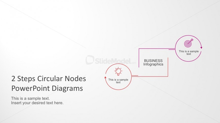 2 Step Process Diagrams for PowerPoint