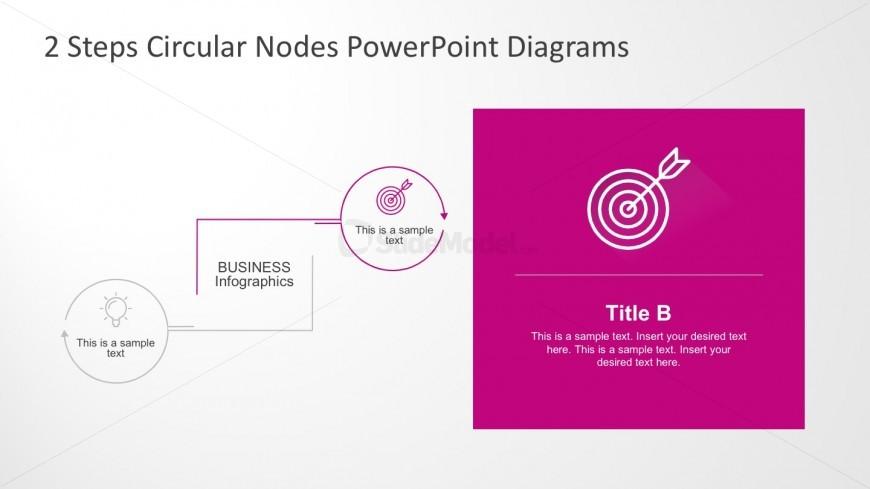 Editable Business Infographics 2 Steps Diagrams