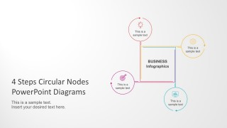 4 Steps Circular Nodes PowerPoint Diagrams