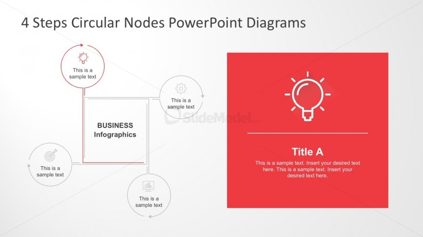 Business Process Circular Nodes PowerPoint Diagram