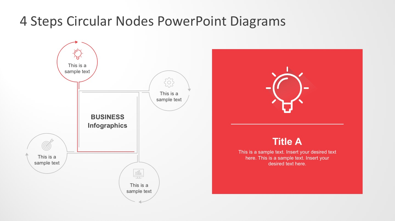 Business Process Circular Nodes PowerPoint Diagram